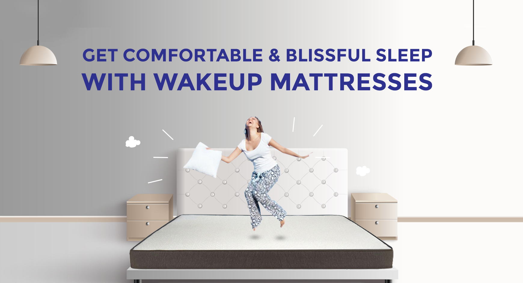 Get comfortable & blissful sleep with wakeup mattresses